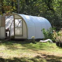 Clear or White Plastic for the Hoop House?